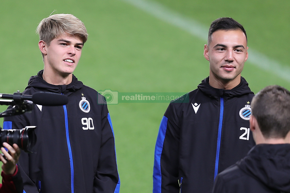 November 5, 2019, Paris, France: Club's Charles De Ketelaere and Club's Dion Cools pictured during a training session of Belgian soccer team Club Brugge KV, Tuesday 05 November 2019 in Paris, France, in preparation of tomorrow's match against French club Paris Saint-Germain Football Club in the first round of the UEFA Champions League. (Credit Image: © Bruno Fahy/Belga via ZUMA Press)