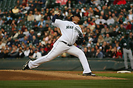 Seattle Mariners Felix Hernandez pitches versus Tampa Bay Rays.