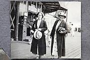 strolling on the boardwalk 1900s England