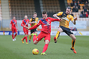York City midfielder James Berrett  scores for York City  during the Sky Bet League 2 match between Cambridge United and York City at the R Costings Abbey Stadium, Cambridge, England on 20 February 2016. Photo by Simon Davies.