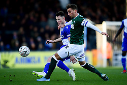 Ollie Clarke of Bristol Rovers is marked by Gary Sawyer of Plymouth Argyle - Mandatory by-line: Ryan Hiscott/JMP - 01/12/2019 - FOOTBALL - Memorial Stadium - Bristol, England - Bristol Rovers v Plymouth Argyle - Emirates FA Cup second round