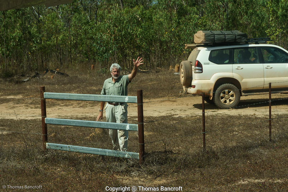 Jonathan, my guide through the Cape York Peninsula, waves good bye as we begin to taxi along the airstrip.