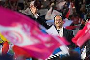 Présidentielles 2012 meeting de François Hollande à Paris-Bercy dimanche le 29 avril 2012