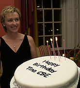 Tina Brown CBE and Birthday party hosted by Sally Greene. Cheyne Walk. London 21 November 2000. © Copyright Photograph by Dafydd Jones 66 Stockwell Park Rd. London SW9 0DA Tel 020 7733 0108 www.dafjones.com