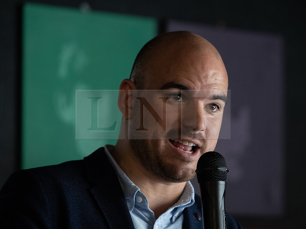 © Licensed to London News Pictures . 23/09/2018. Liverpool, UK. RICHARD ANGELL at a rally by The Jewish Labour Movement at The Liverpool Pub in central Liverpool during the first day of the 2018 Labour Party Conference . Photo credit: Joel Goodman/LNP