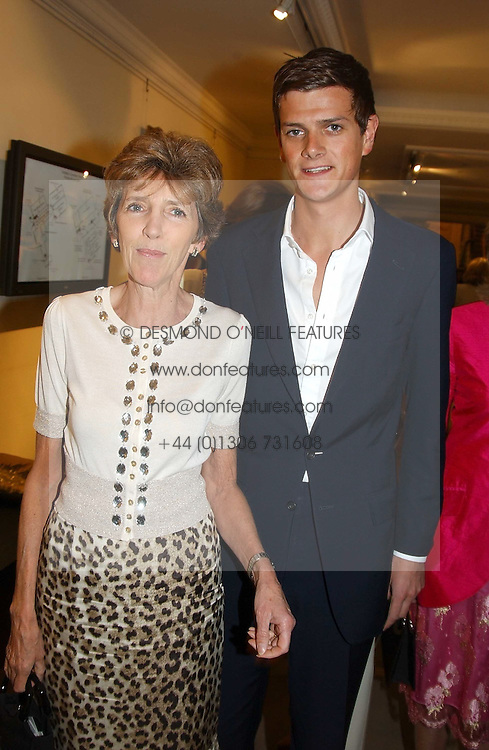 LADY JANE SPENCER-CHURCHILL and her son the HON.ALEXANDER SPENCER-CHURCHILL at auctioneers Sotheby's Summer party held at their showrooms in 34-35 New Bond Street, London W1 on 6th June 2005.<br />