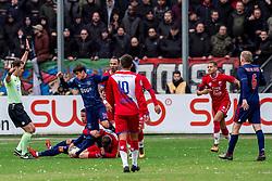 28-01-2018 NED: FC Utrecht - AFC Ajax, Utrecht<br /> Nicolas Tagliafico #31 of Ajax, Justin Kluivert #45 of Ajax, Rico Strieder #6 of FC Utrecht