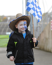 Kiltimagh fan Sean Creighton enjoying the intermediate final at McHale park on saturday evening.<br />