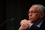 NASA Administrator Charles Bolden testifies before the Senate Appropriations Subcommittee on Commerce, Justice, Science, and Related Agencies during a hearing on the  hearing about the FY2014 budget for the National Aeronautics and Space Administration.