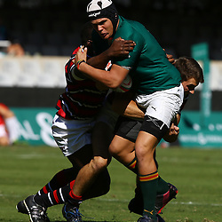 DURBAN, SOUTH AFRICA - APRIL 18: Marco Palvie of Glenwood  during the 2015 Mutual & Federal Premier Interschools match between Glenwood High School and Maritzburg College at Growthpoint Kings Park on April 18, 2015 in Durban, South Africa. (Photo by Steve Haag/Gallo Images)