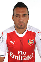 ST ALBANS, ENGLAND - AUGUST 03: (EXCLUSIVE COVERAGE)  Santi Cazorla of Arsenal at the 1st team photocall at London Colney on August 3, 2016 in St Albans, England.  (Photo by Stuart MacFarlane/Arsenal FC via Getty Images)