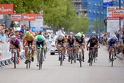 Sprint splits with 50 metres to go at the 111 km Stage 4 of the Boels Ladies Tour 2016 on 2nd September 2016 in 's-Hertogenbosch, Netherlands. (Photo by Sean Robinson/Velofocus).
