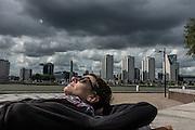Rotterdam,Irene  relaxing on Noordereiland