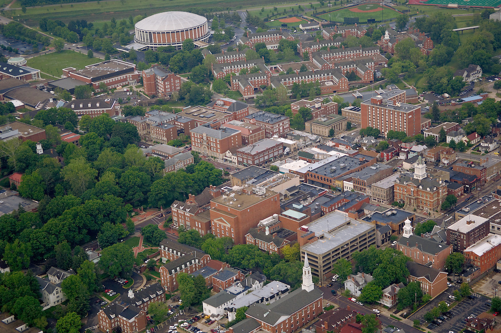 Aerial view of Ohio University and Uptown Athens. © Ohio University