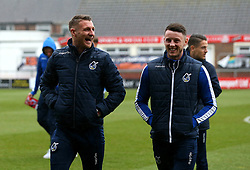 Lee Brown and Ollie Clarke of Bristol Rovers - Mandatory by-line: Robbie Stephenson/JMP - 02/04/2018 - FOOTBALL - Highbury Stadium - Fleetwood, England - Fleetwood Town v Bristol Rovers - Sky Bet League One