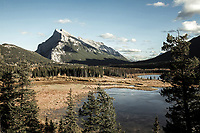 Mount Rundle near Banff, Alberta, Canada