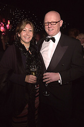 MR & MRS DAVID YELLAND, he is editor of The Sun, at a dinner in London on 24th October 2000.OID 50
