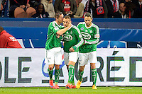 Joie Saint Etienne - Romain HAMOUMA / Yohan MOLLO - 08.04.2015 - Paris Saint Germain / Saint Etienne - 1/2Finale Coupe de France<br /> Photo : Andre Ferreira / Icon Sport
