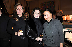 Left to right, CLAUDIA DAVIES, SHANNON de BOISSARD and LILLIAN VON STAUFFENBERG at a lecture in aid of The Lavender Trust hosted by Asprey, Bond Street, London on 27th January 2010.
