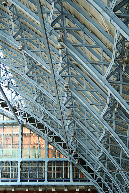 The cast iron roof of St Pancras Railway Station London