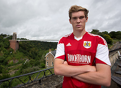 Luke Dobie of Bristol City - Photo mandatory by-line: Kieran McManus/JMP - Tel: Mobile: 07966 386802 31/07/2013 - SPORT - FOOTBALL - Avon Gorge Hotel - Clifton Suspension bridge - Bristol -  Team Photo