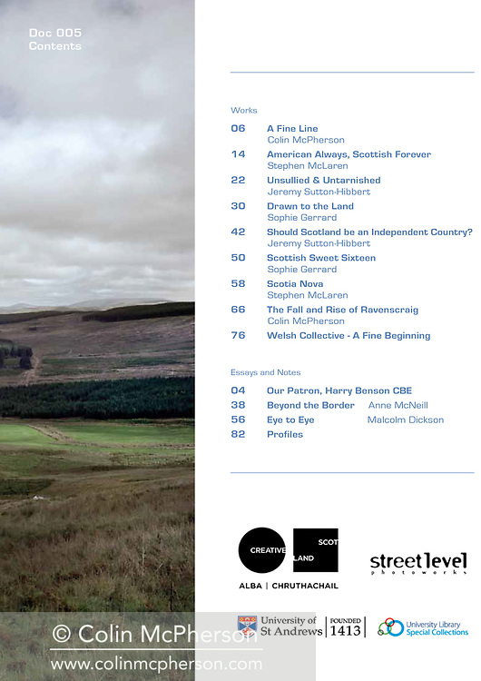 Common Ground, a publication by the Document Scotland collective, produced in 2014. Designed by Yuko Hirono.