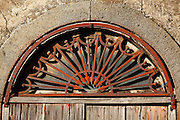 Decorative window grate.