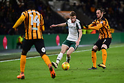 Joe Williams of Barnsley during the EFL Sky Bet Championship match between Hull City and Barnsley at the KCOM Stadium, Kingston upon Hull, England on 27 February 2018. Picture by Craig Zadoroznyj.