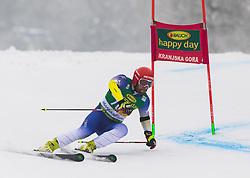 Albin Tahiri (KOS) during 1st run of Men's Giant Slalom race of FIS Alpine Ski World Cup 57th Vitranc Cup 2018, on 3.3.2018 in Podkoren, Kranjska gora, Slovenia. Photo by Urban Meglič / Sportida