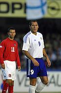 07.09.2002, Olympic Stadium, Helsinki, Finland..UEFA European Championship 2004 Qualifying match, Group 9, Finland v Wales..Shefki Kuqi - Finland.©Juha Tamminen
