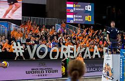 07-01-2018 NED: DELA Beach Open day 5, Den Haag<br /> Support publiek fans, #voorelkaar, sfeer, Oranje
