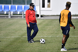 June 17, 2018 - Sochi, RUSSIA - Panama's head coach Hernan Gomez pictured during a training session of the Panama national soccer team in Sochi, Russia, Sunday 17 June 2018. The team is preparing for their first game at the FIFA World Cup 2018 against Belgian national soccer team the Red Devils tomorrow. BELGA PHOTO DIRK WAEM (Credit Image: © Dirk Waem/Belga via ZUMA Press)