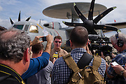 General Atomic / Northrop-Grumman Press Event for First EMALS (ElectroMagnetic Alternative Launch System) of the Northrop E2D Advanced Hawkeye at Lakehurst, New Jersey