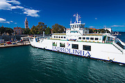 Ferry in Zadar Harbor, Dalmatian Coast, Croatia