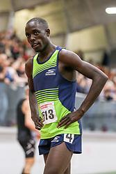 Cheserek reaction, mile<br /> Boston University Athletics<br /> Hemery Invitational Indoor Track & Field
