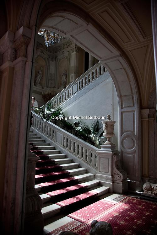 Russia, St Petersburg, interiors of Yussoupov palace museum.///.interieur du palais musee Youssoupov. Saint Petersbourg. Russie