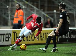 Bristol City's Kieran Agard keeps the ball in  - Photo mandatory by-line: Joe Meredith/JMP - Mobile: 07966 386802 - 17/02/2015 - SPORT - Football - Bristol - Ashton Gate - Bristol City v Peterborough United - Sky Bet League One