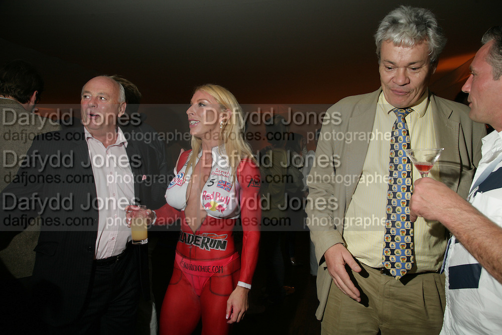 David Graham-Smith , Sarah Donohue and Chris Whitten, 3rd Annual Powerboat Rally. Blade Run Send Off Party. The Conservatory at Chelsea, Embankment. London sw3. 25 July 2007. .  -DO NOT ARCHIVE-© Copyright Photograph by Dafydd Jones. 248 Clapham Rd. London SW9 0PZ. Tel 0207 820 0771. www.dafjones.com.