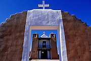 Image of Taos Pueblo Church, New Mexico, American Southwest