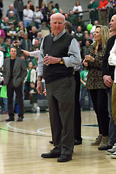 21 February 2015:  Dennie Bridges.  At half time of an NCAA D# CCIW men's basketball game between the Illinois Wesleyan Titans in Shirk Center, Bloomington IL the floor was named in honor of retiring Dennie Bridges.  Dennie Bridges has been on the job at IWU for 51 years as a basketball coach, then athletic director.  Dennie is the 2nd winningest D3 coach by wins behind only Dick Saurs.  Dennie took the Titans to the D3 NCAA tournament 14 times in 18 season. He had a league record of 421-129 in 17 seasons.  Jack Sikma was a part of Dennie's 1973 recruiting class.  Sikma later played for the Milwaukee Bucks and Seattle Supersonics in the NBA.  IWU President Richard Wilson presided over the ceremony.