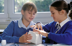 Design & technology class at primary school, UK