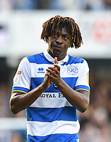 Football - 2019 / 2020 Sky Bet (EFL) Championship - Queens Park Rangers vs. Luton Town<br /> <br /> Queens Park Rangers' Ebere Eze applauds the fans at the final whistle, at Kiyan Prince Foundation Stadium (Loftus Road).<br /> <br /> COLORSPORT/ASHLEY WESTERN