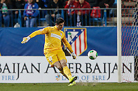17.01.2013 SPAIN - Copa del Rey Matchday 1/2th  match played between Atletico de Madrid vs Real Betis Balompie (2-0) at Vicente Calderon stadium. The picture show  Thibaut Courtois (Belgian goalkeeper of At. Madrid)