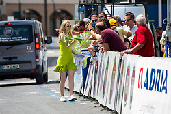 Hostess with flags during 2nd Stage of 26th Tour of Slovenia 2019 cycling race between Maribor and Celje (146,3 km), on June 20, 2019 in Slovenia.. Photo by Matic Klansek Velej / Sportida