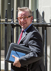 Image ©Licensed to i-Images Picture Agency. 10/06/2014. London, United Kingdom. Cabinet Meeting. Michael Gove arrives for the cabinet meeting today at 10 Downing Street. Picture by Daniel Leal-Olivas / i-Images