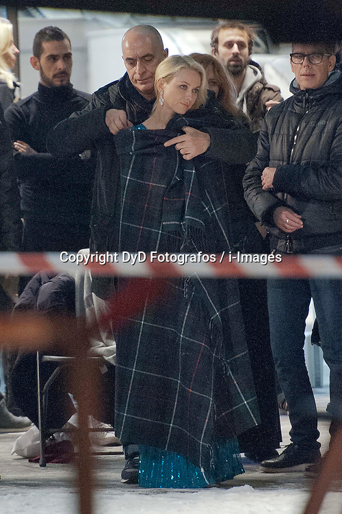 Naomi Watts during filming at the El Corte Ingles supermarket, Madrid, Spain, November 18, 2012. Photo by DyD Fotografos / i-Images...SPAIN OUT