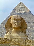 Sphinx and pyramids at Giza, Cairo, Egypt (UNESCO  world Heritage List)