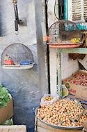 Tehran, Iran. October 2, 2007- A fruit shop in south Tehran.
