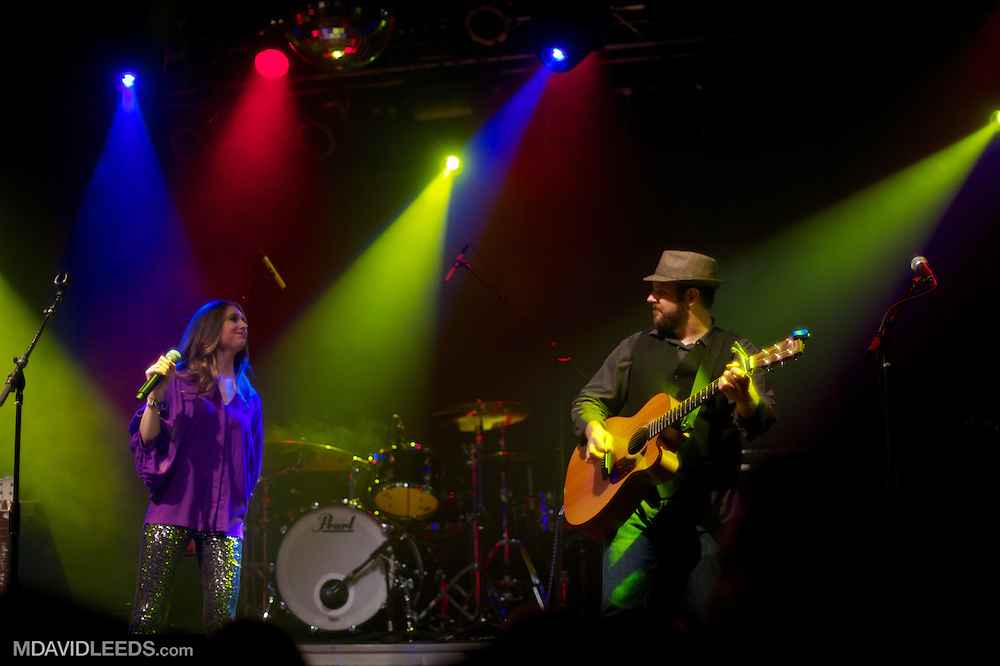 "Rachel Allyn and Warren Hibbert III as seen during their set at Brett Eldredge's ""Bring You Back"" album release show at the Highline Ballroom on August 6, 2013 in New York City, New York.  Mandatory Credit:  Photo by MDAVIDLEEDS"