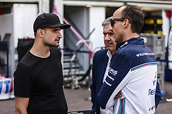 May 23, 2018 - Montecarlo, Monaco - 40 Robert Kubica from Poland Williams F1 Mercedes FW41 portrait talking with Vitantonio Liuzzi portrait 40 Robert Kubica from Poland Williams F1 Mercedes FW41 portrait during the Monaco Formula One Grand Prix  at Monaco on 23th of May, 2018 in Montecarlo, Monaco. (Credit Image: © Xavier Bonilla/NurPhoto via ZUMA Press)
